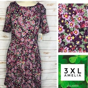 3XL Amelia floral print w/pockets